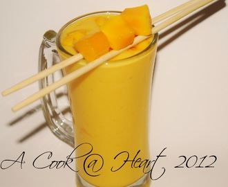 Mango Lassi- making summer tolerable!