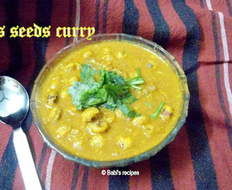 Lotus seeds/Foxnuts/Phool Makhana Curry |  Side Dish for Indian Flat Breads/Roti/Naan