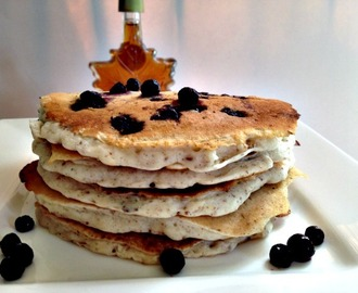 The Most Amazing Vegan Blueberry Pancakes