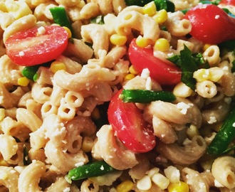 Sweet Corn,Tomato and Green Bean Pasta Salad, A Door to Wellness Recipe
