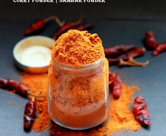 CURRY POWDER | SAMBAR POWDER RECIPE ( HOMEMADE SAMBAR PODI )