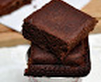 Brownie de chocolate y dulce de leche.  Receta