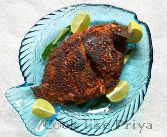 Karimeen Fry | South Indian fish fry recipe