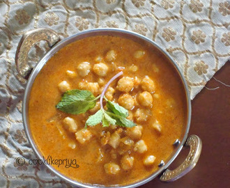 Easy Chana Masala with Coconut | Chana Kurma | Chickpeas Curry Recipe