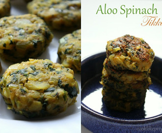 Potato Spinach Patties | Aloo Palak Tikki | Pan-fried Indian Snack
