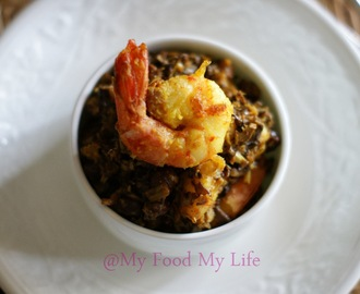Recipe recreation for NUTRIFEST - Chingri Mochar Ghonto (Banana Blossom with Prawns)