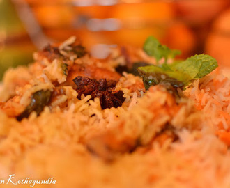 Cooking with Kalyan - Hyderabadi Chicken Dum Biriyani