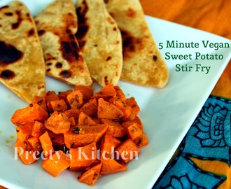 Easy ( 5 Minute ) Sweet Potato Stir Fry / Shakarkandi Ki Sabzi / Vegan Side Dish