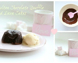 Molten Chocolate Souffle and Lava Cakes