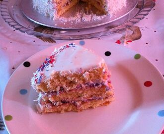 Nostalgic Coconut cake with a modern twist.