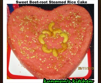 SWEET BEET-ROOT STEAMED RICE CAKE