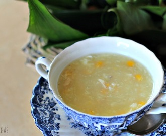 Sopa china de pollo y maíz - Chinese Chicken & Sweet Corn Soup