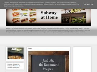 Subway Restaurant Copycat Recipes