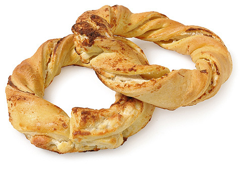 Τυροκούλουρο Greek Sesame Bread Rings Filled (Koulouria)