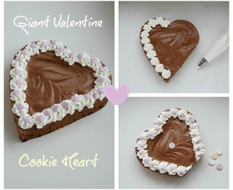 Giant Valentine Heart Cookie & Delicious Chocolate mousse