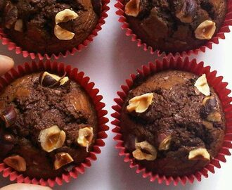 Nutella brownies cupcakes