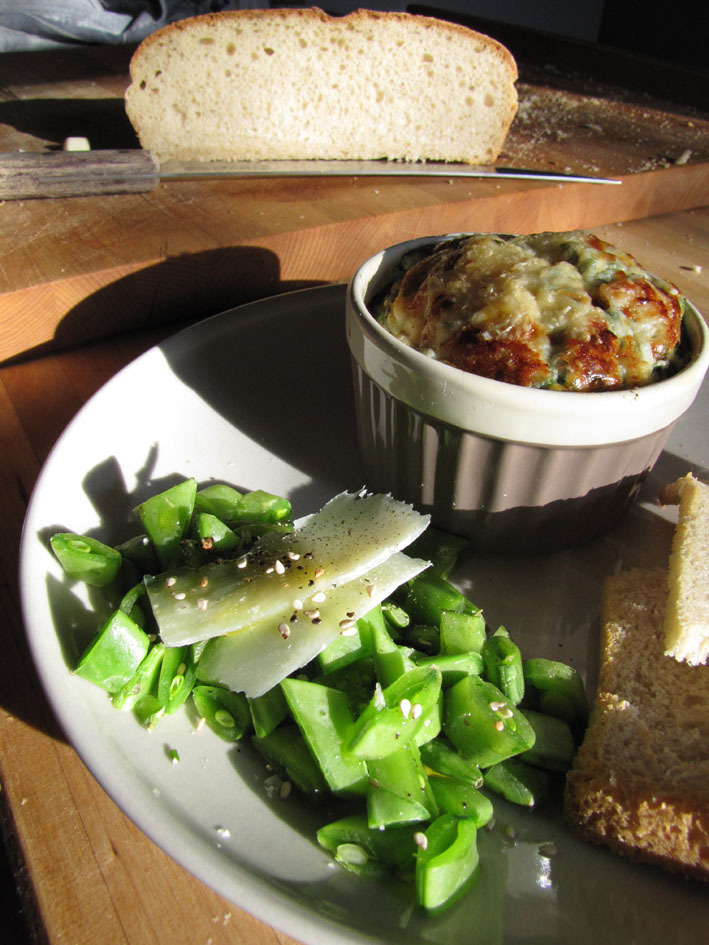 Baked Eggs with Herb and Parmesan Crust