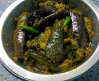 Brinjal Curry/Eggplant In Mustard Sauce/Bengali Shorshe Begun.