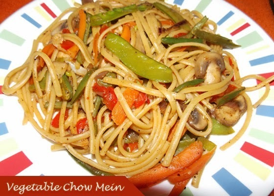 Vegetable Chow Mein Recipe / Chinese Noodles