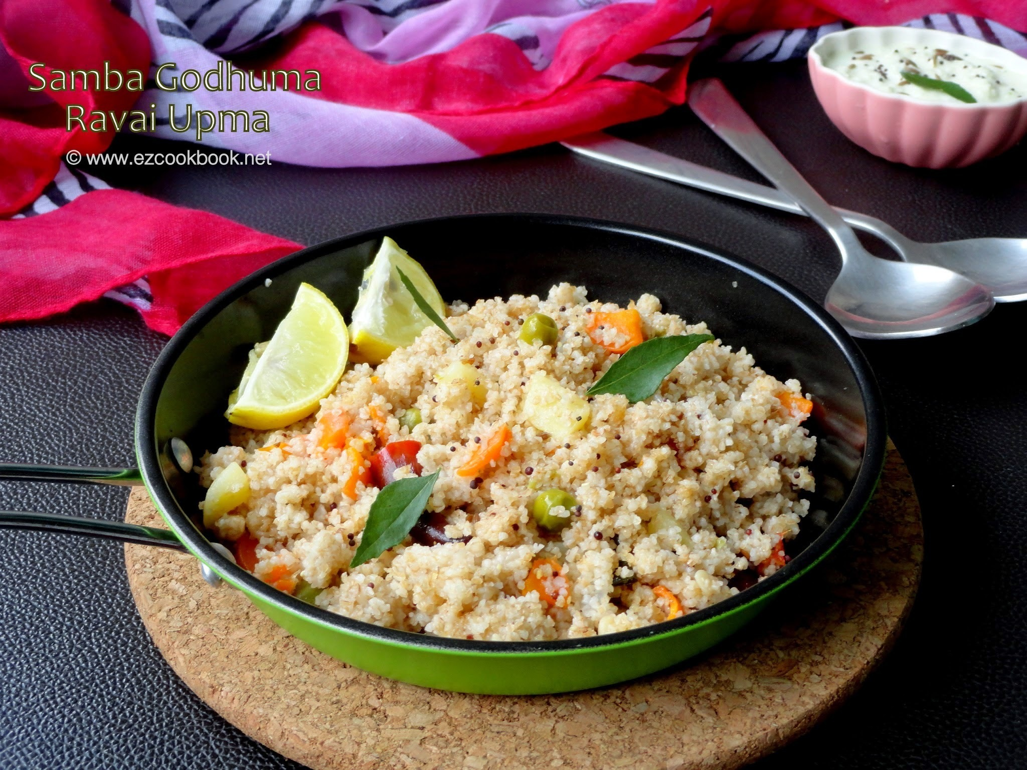 Samba Godhuma Ravai Vegetable Upma | Samba Wheat Rava Upma Recipe