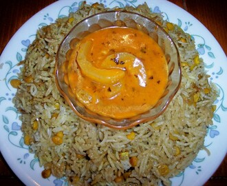 Layered Lentil Rice with Curry