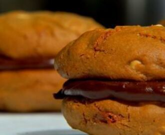 Cookie de Amendoim Recheado com Chocolate - Chef  Lucas Corazza