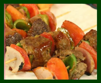 Meat ball shashlik