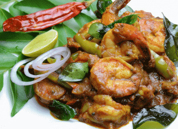 SPICY TANGY PRAWNS KERALA STYLE
