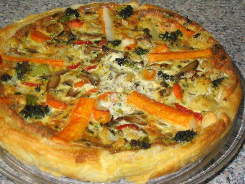 Quiche de Legumes e Delícias do Mar