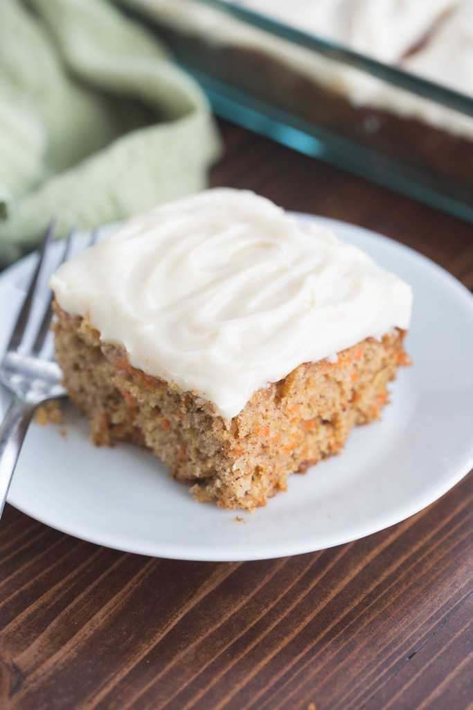 Carrot Cake with Whipped Cream Cheese Frosting