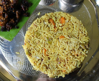 Thengai Paal Veg Biryani / Thengai PaalT Biriyani / Coconut Milk Vegetable Biryani