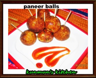 EASY N QUICK YUMMY PANEER BALLS