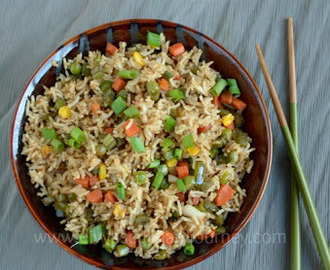Vegetable Fried Rice (Indo- Chinese Style)