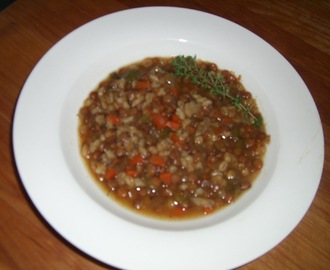 Lentil Stoup (somewhere between a stew and a soup)