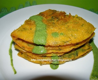 Cucumber And Spinach (palak) Pancakes