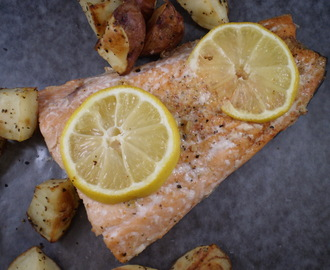 Oven Baked Salmon with Roasted Red Potatoes