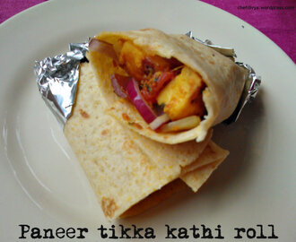 Paneer tikka kathi roll (Cottage cheese wrap)