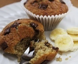 Banana and chocolate muffins Recipe