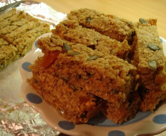 Chewy Seedy Apricot Bars