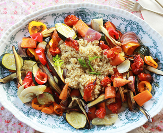 quinoa with fennel roasted veg