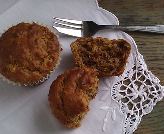 Date and Banana muffin - gf and no added sugar