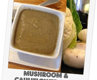 Mushroom and Cauliflower Soup (Slow Cooker Recipe)