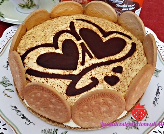 Tarta de Natillas y Galletas