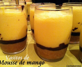 Vasitos de mousse de mango