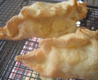 Gluten-free cheese, potato and onion pasties