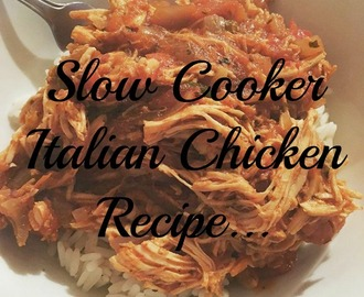 Slow Cooker Italian Chicken Recipe...