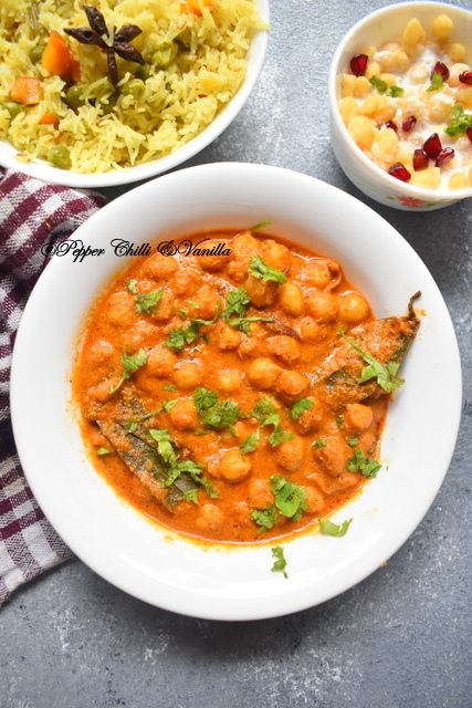 Chana Masala Recipe /Chana Masala with Coconut.