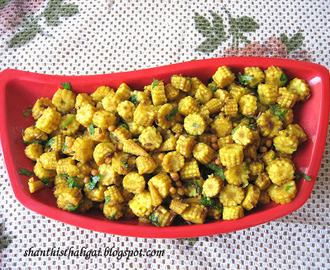 BABY CORN STIR FRY (SOUTH INDIAN STYLE)