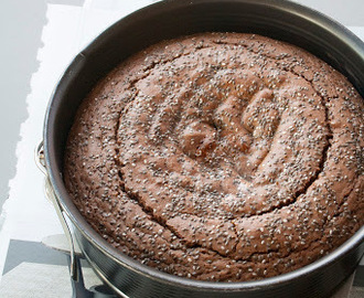 Torta al cioccolato con semi di chia / Chocolate cake with chia seeds recipe