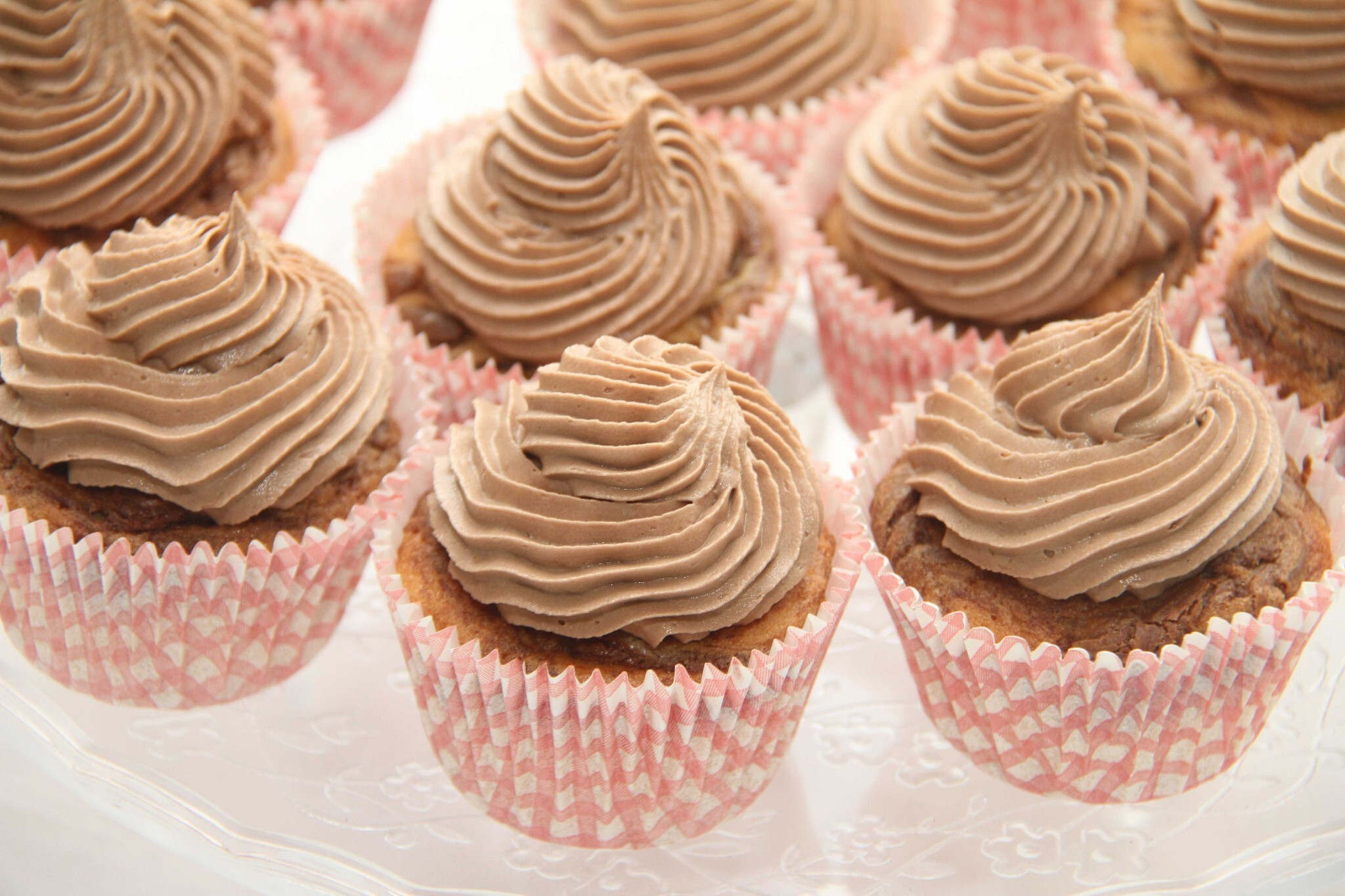 Nutella cupcakes med nutella frosting